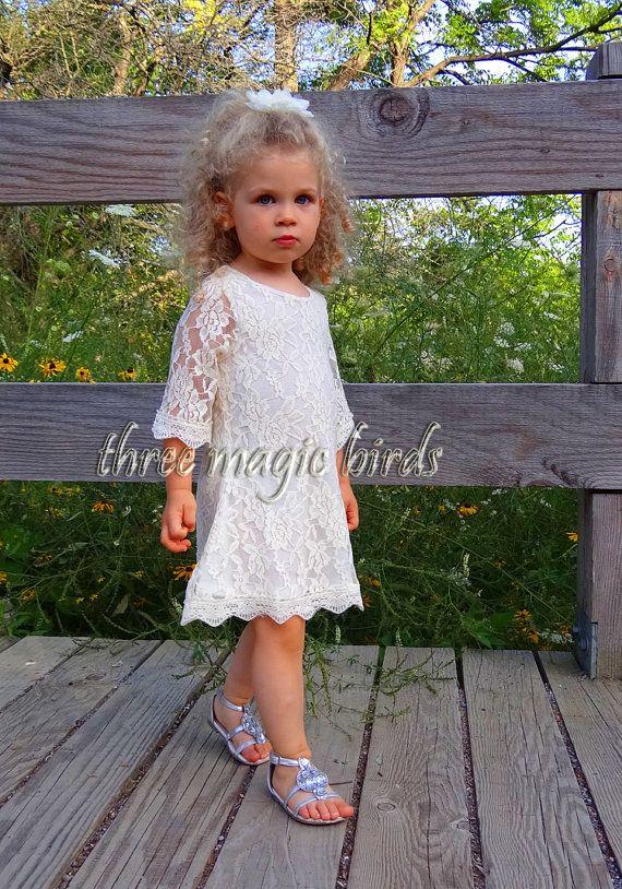 Flower Girl DressRustic Fall WeddingCountry by ThreeMagicBirds Only $45 @charisegonzalez