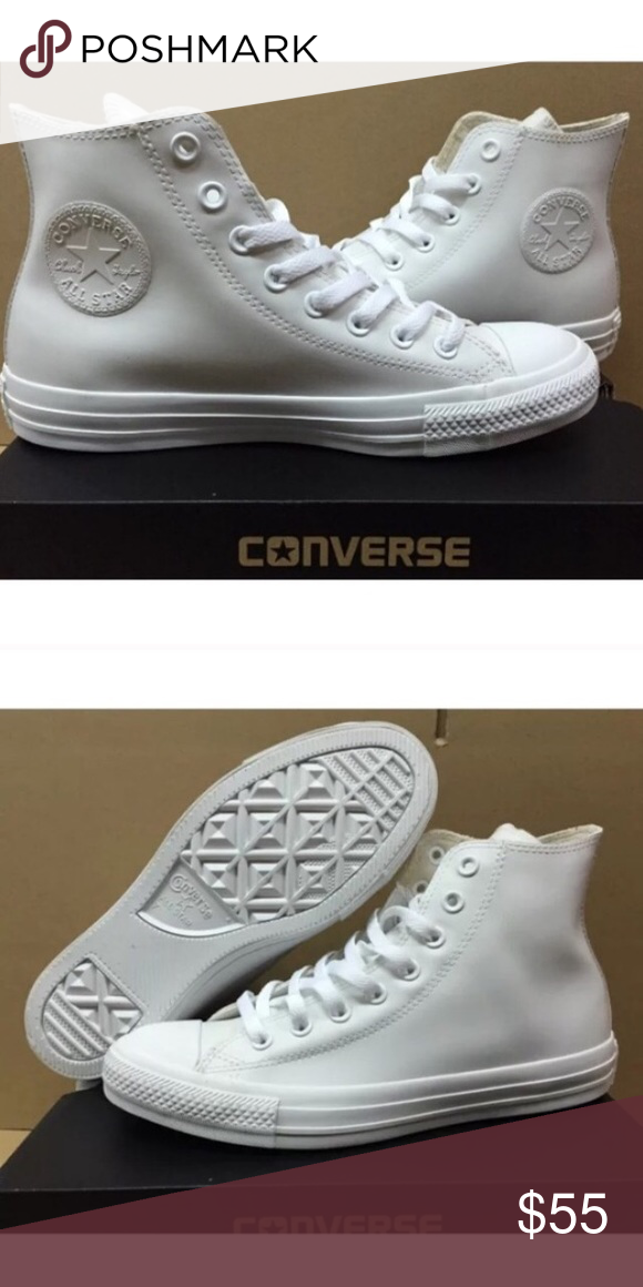 1ed20317f109 Converse Mens size 10 white shoes Brand new without box Converse Shoes  Sneakers