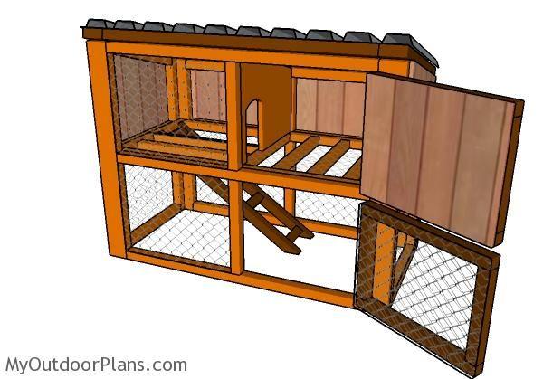 Casa Para Conejo Conejito Planos De Casa Al Aire Libre