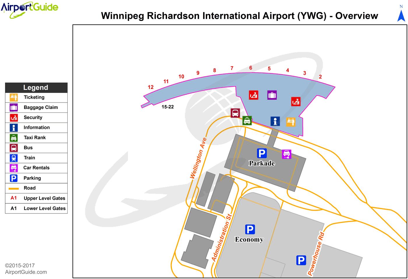 winnipeg airport terminal map Winnipeg Winnipeg James Armstrong Richardson International winnipeg airport terminal map