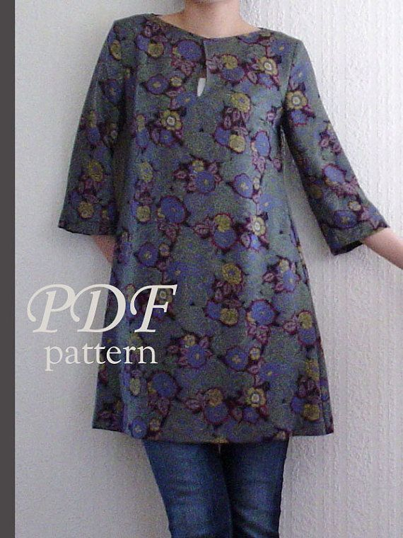 PDF Sewing Pattern - Looks like a pretty easy sewing project? Free ...