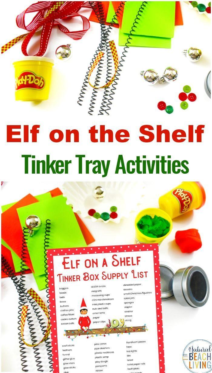 Elf on the Shelf STEM Activities – Elf On The Self #elfontheshelfideasfortoddlers