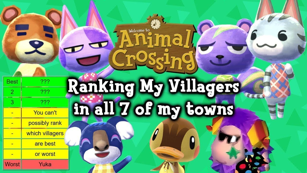 Ranking My Animal Crossing Villagers In All 7 Of My Towns Animal