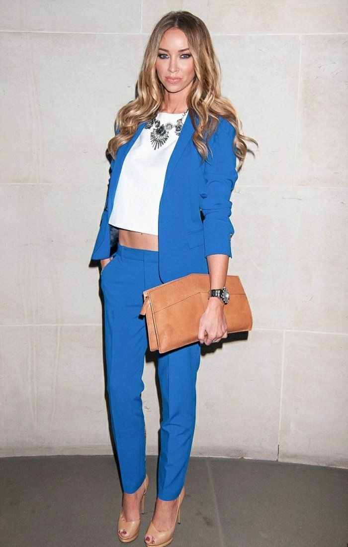 Tendance chic pour vous le tailleur pantalon femme pinterest tailleur - Tenue chic decontractee ...