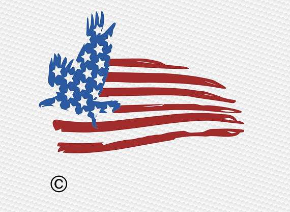 American Flag Eagle Clipart Svg Usa Flag Svg Patriotic Svg 4th Of