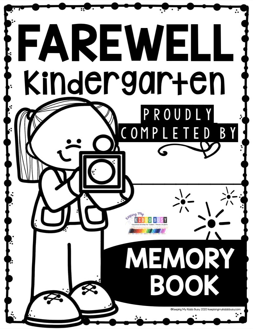 End Of The School Year In Kindergarten Free Printables Keeping My Kiddo Busy Memory Book Kindergarten Memory Books Kindergarten Portfolio [ 1058 x 812 Pixel ]