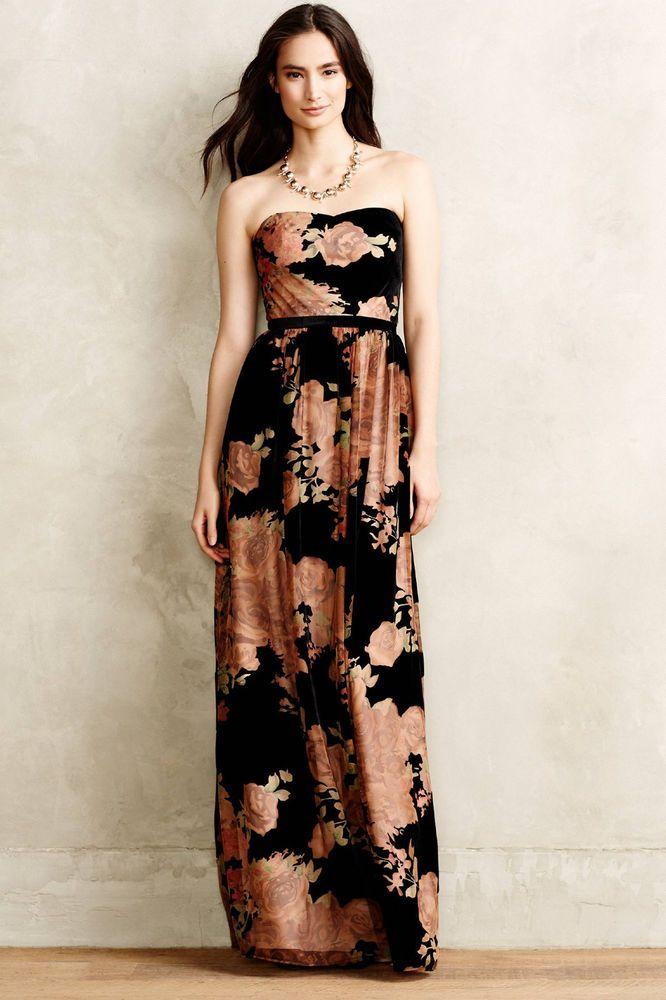 22bafa562fb Anthropologie Rosalind Velvet Gown Size 6