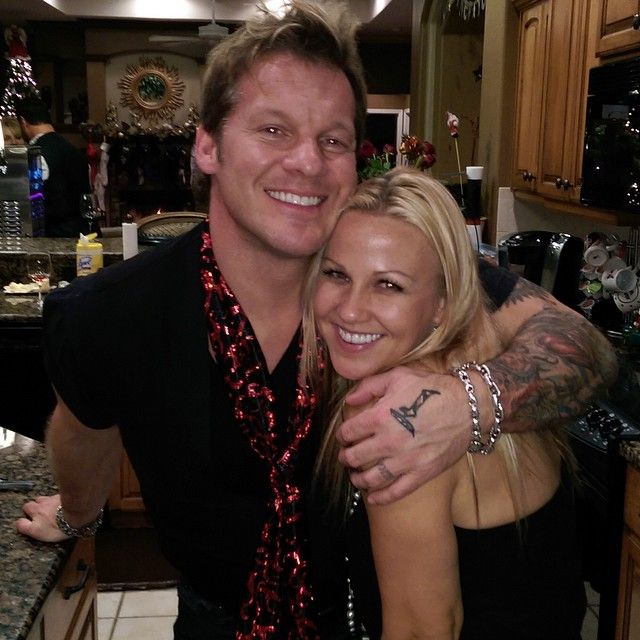 WWE Superstar Chris Jericho and his wife Jessica Lockhart ...