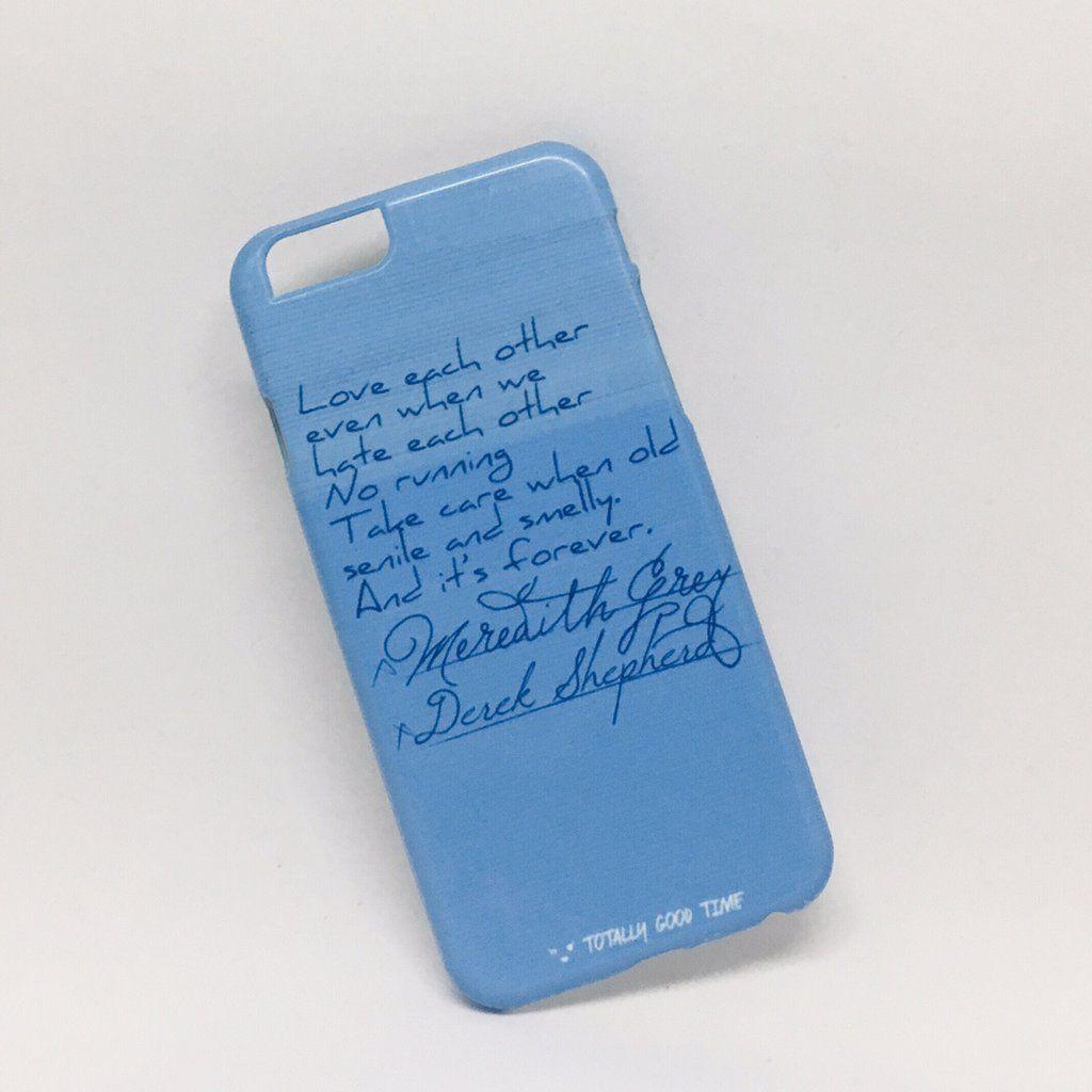 Meredith And Derek Marriage Note Greys Anatomy Iphone 6