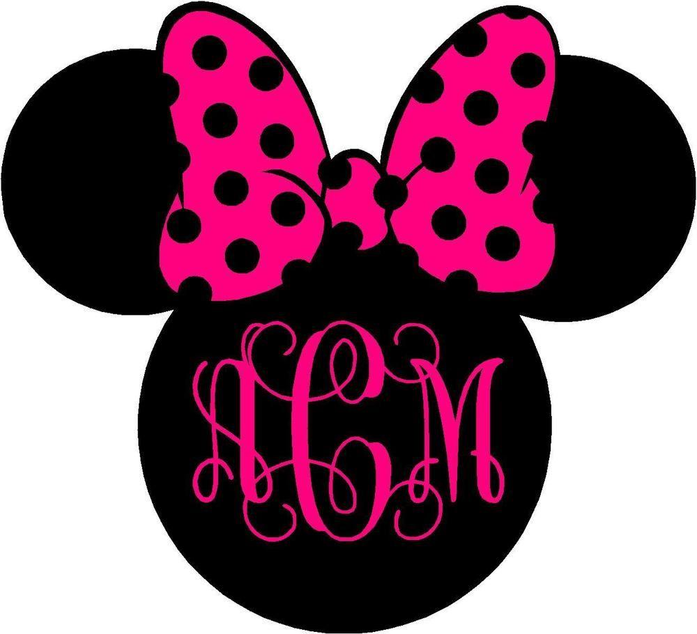 Details About Personalized Minnie Mouse Vine Monogram  Vinyl - Disney custom vinyl decals for car