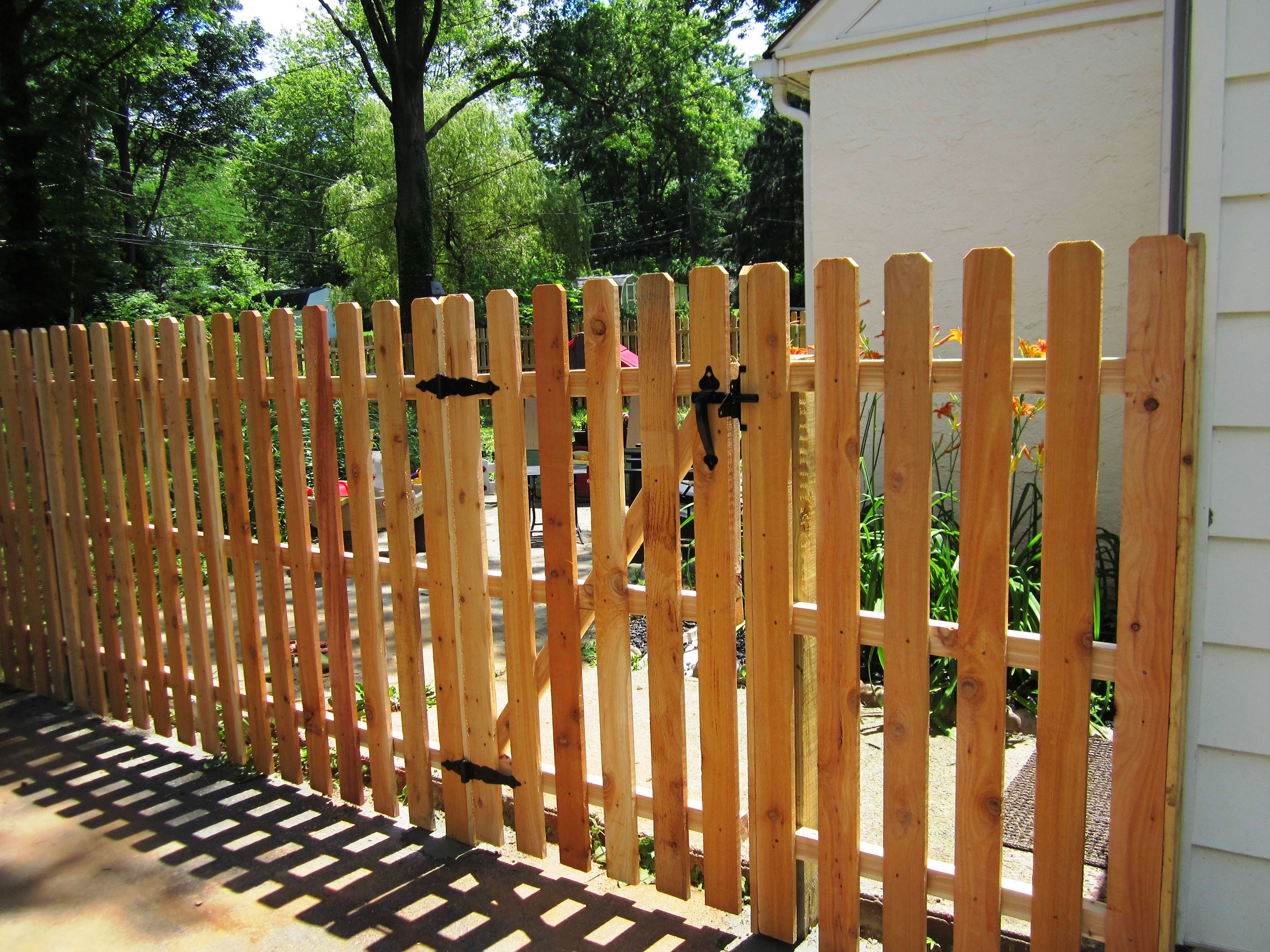 5 tall Red Cedar spaced picket fence Fence Ideas