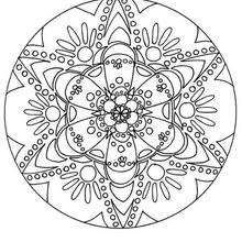 Mandala 156 - Coloring page - MANDALA coloring pages - Mandalas for ADVANCED