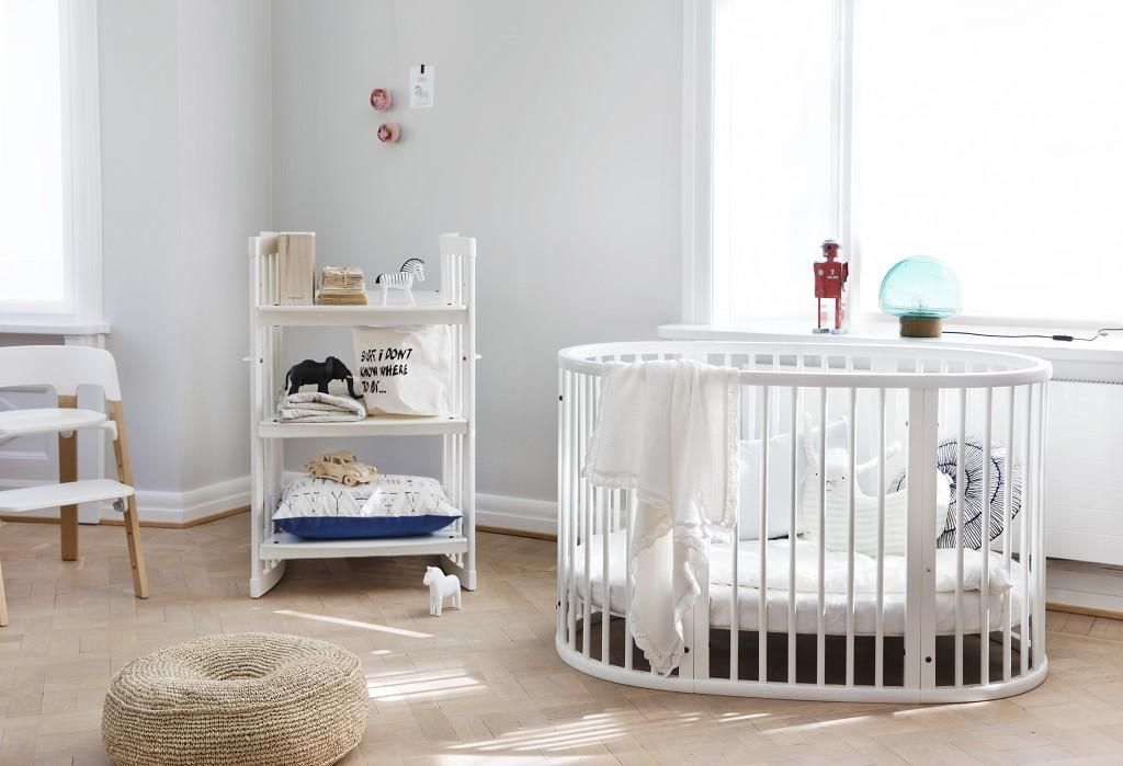 Turn Your Dreamy Nursery Into A Reality With Stokke Furniture Care Changing Table And Sleepi Crib In White