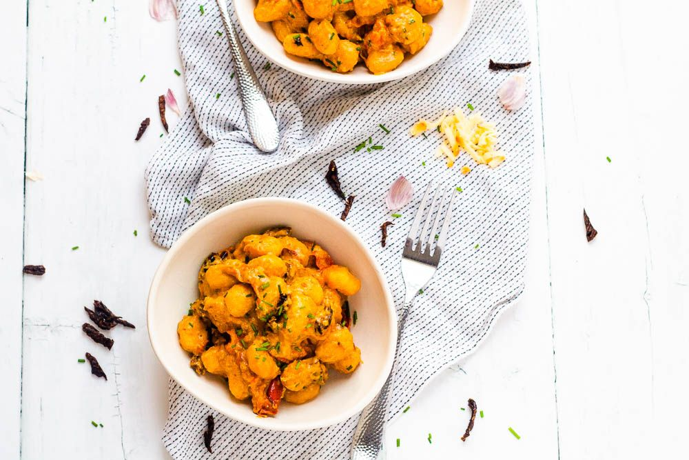 Gnocchi with Smoky Tomato Cream Sauce | Happy Veggie Kitchen