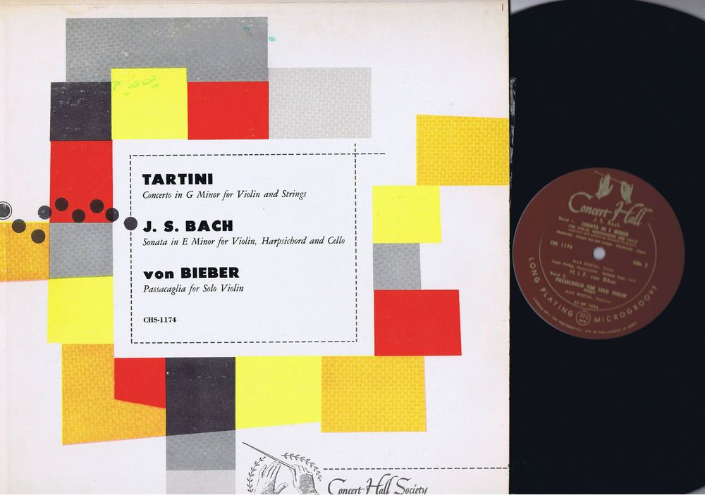 ORIGINAL ROSTAL BACH BIBER MONO VIOLIN LP