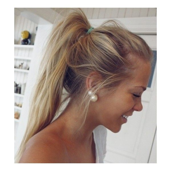 hair do they do it Messy ponytail ❤ liked on Polyvore