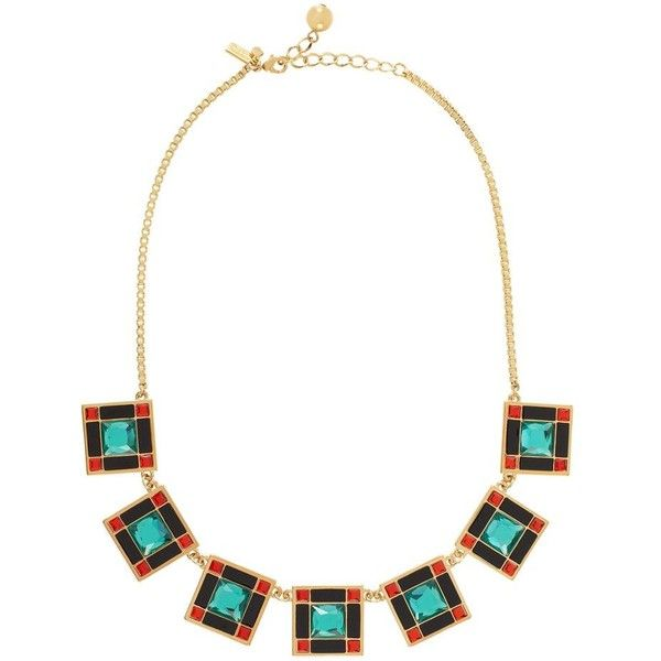 Lewitt Squares Short Necklace ($103) ❤ liked on Polyvore featuring jewelry, necklaces, turquoise multi, handcrafted jewelry, multicolor necklace, colorful jewelry, geometric necklace and hand crafted jewelry