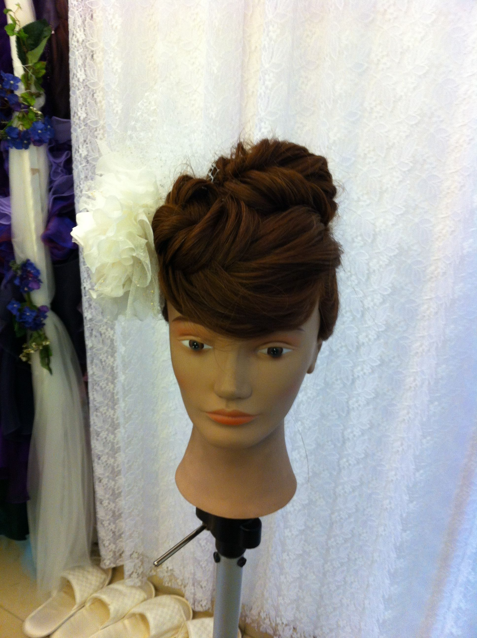 Rose fringe linked into faux mohawk hair training pinterest