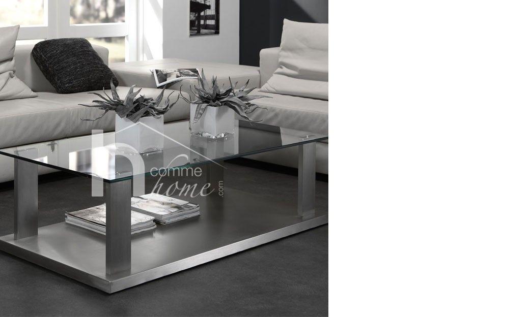 design Table et en verre GLORYSalon inox ou brossé xsrQoCthdB