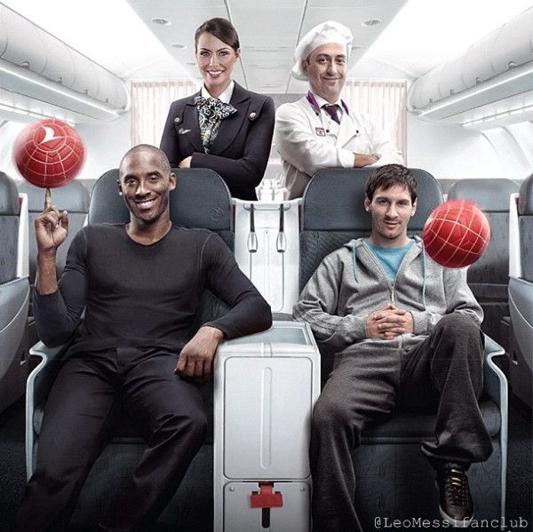 Superstars Leo Messi & Kobe Bryant in a marketing campaign