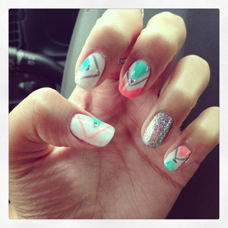 Random nails #Summer #Bling | Nail art | Pinterest | Nail nail ...