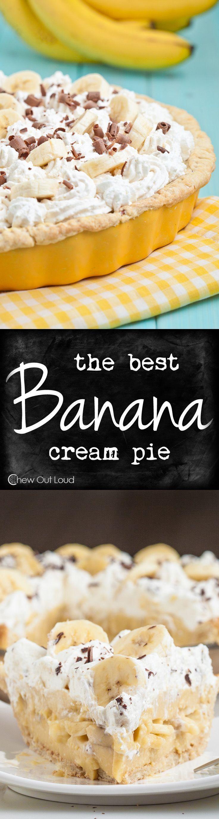 Best Banana Cream Pie #bananapie