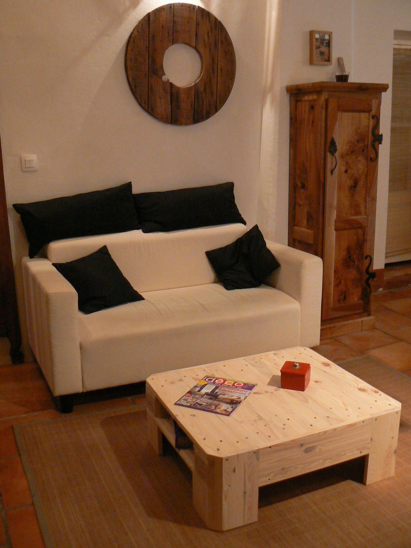 Table basse 2 en bois de palette Europe : Meubles et rangements par palette-et-co