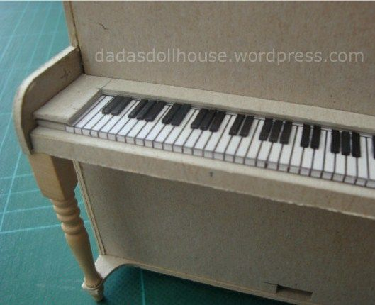how to: keyboard for upright piano (with printables)