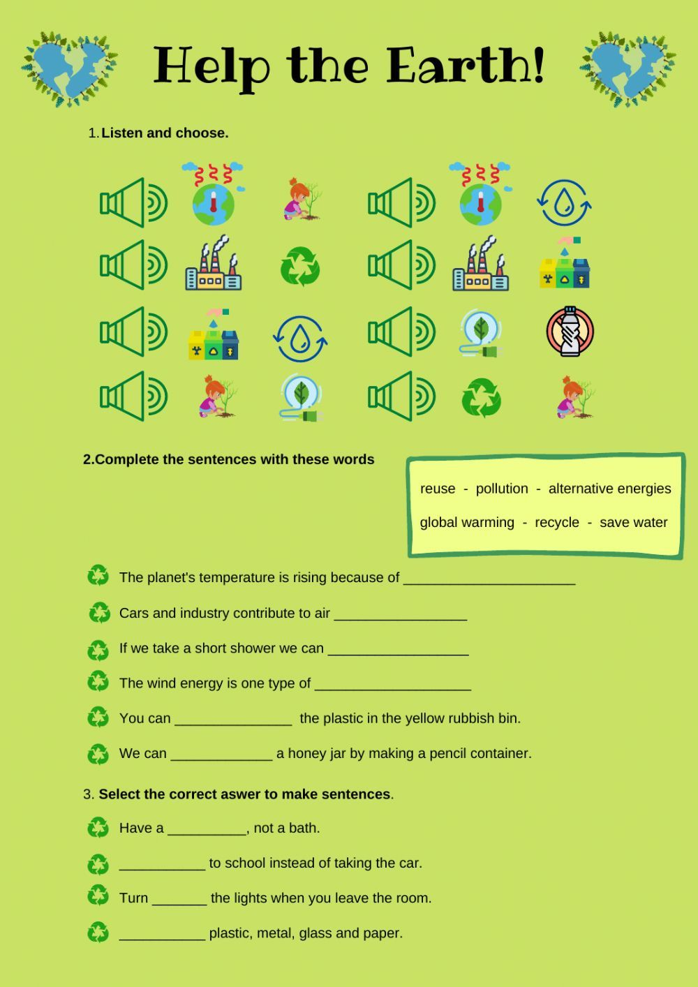 Environment Interactive And Downloadable Worksheet You Can Do The Exercises Online Worksheets English As A Second Language Esl English As A Second Language [ 1414 x 1000 Pixel ]