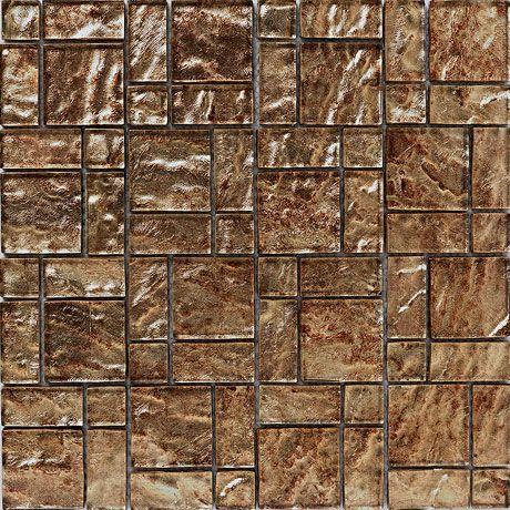 Bct Tiles Luxe Bronze Foil Gl Mosaic 300 X 300mm Bct38627