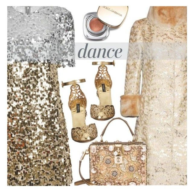 """""""DANCE PARTY"""" by shoaleh-nia ❤ liked on Polyvore featuring Dolce&Gabbana and Anja"""