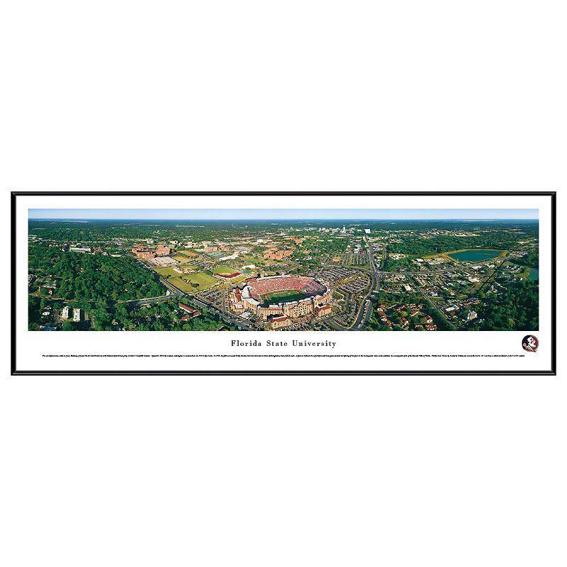 Florida State Seminoles Stadium Aerial Framed Wall Art, Multicolor