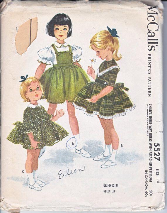 Mccalls 5949 Girls Tops Raglan Sleeves Skirts Sewing Pattern Size 7 Vintage