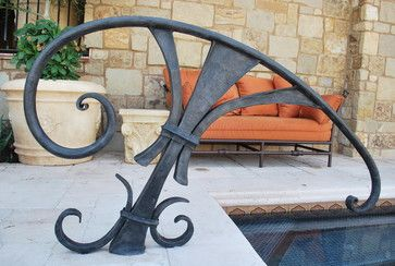 Pool Railing Contemporary Pool Phoenix Grizzly Iron Inc
