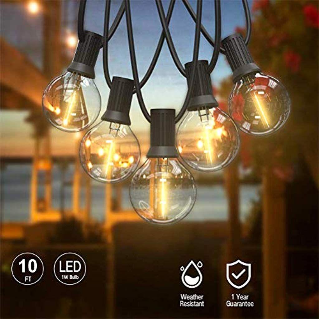 Cjming Lichterkette 10 20led Lampen Innen Und Aussenlichtgirlande Anschliessbare Girlande Fur Sonnensc In 2020 Lichterkette Dekorative Lichterketten Terrassen Hochzeit