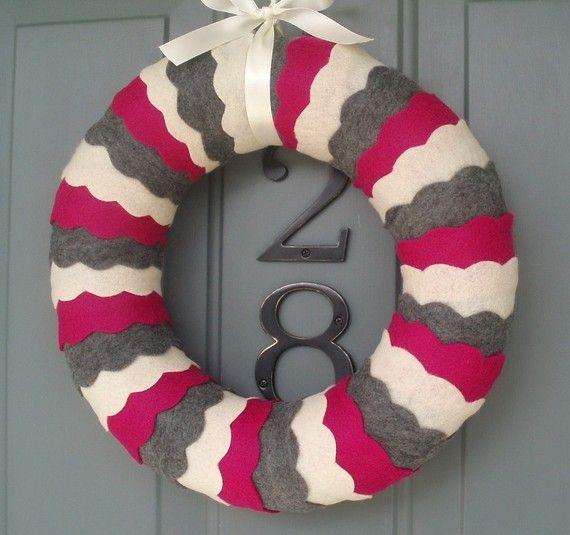 Wreath Felt Handmade Door Decoration