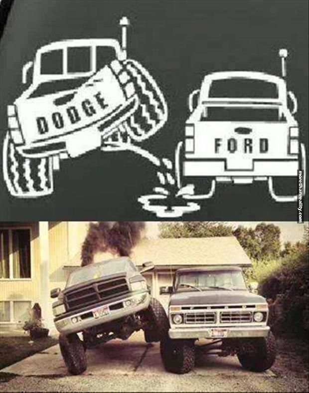 Dodge Vs Ford Ford Jokes Truck Memes Ford Memes