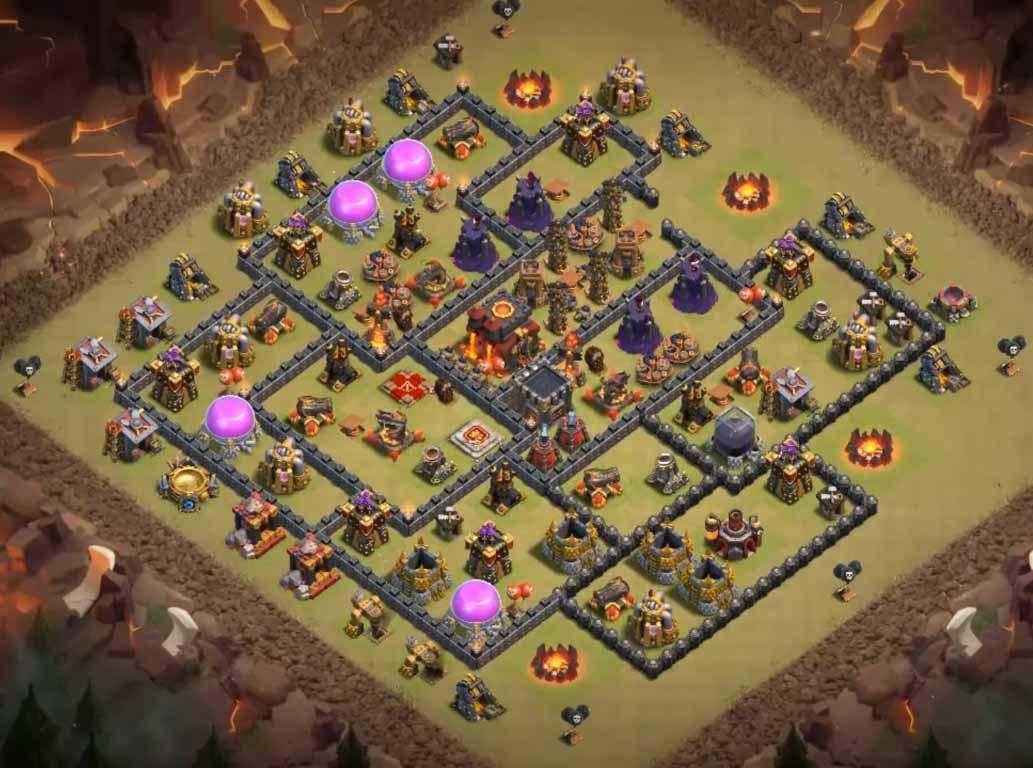 Coc th10 war base attack