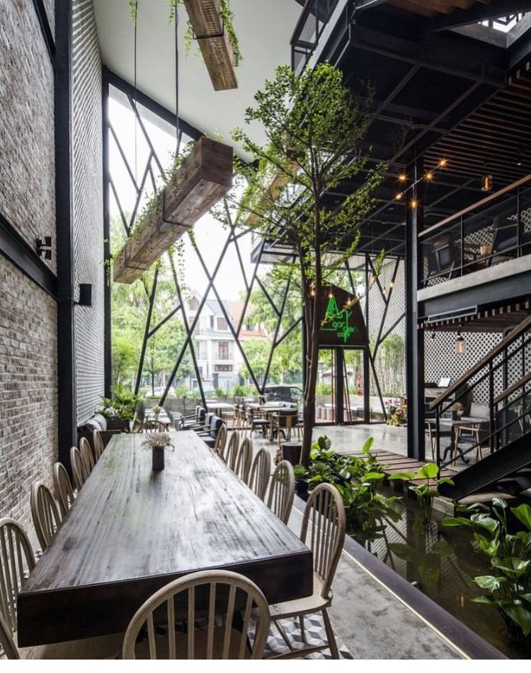 Pin By Shlgarrido On My Caffe Courtyard Cafe Restaurant Design Garden Cafe