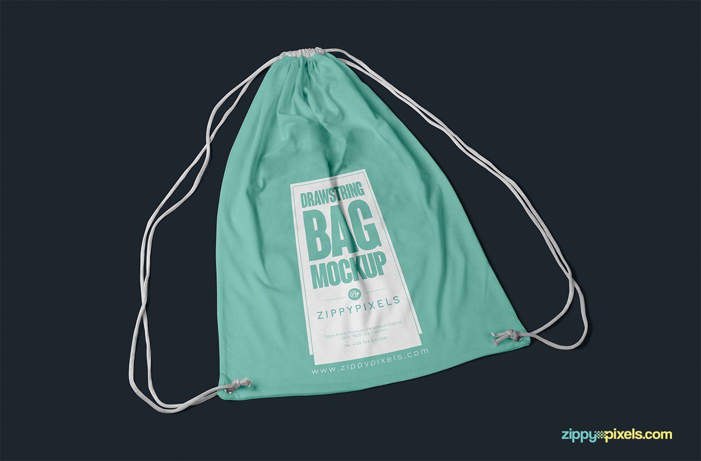 Free Drawstring Backpack Mockup on Behance