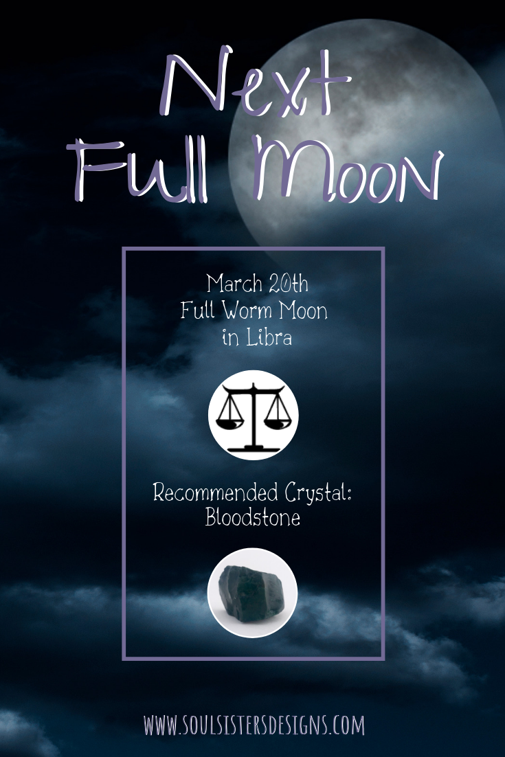 March 2019 Full Moon in Virgo with recommended Healing Crystal
