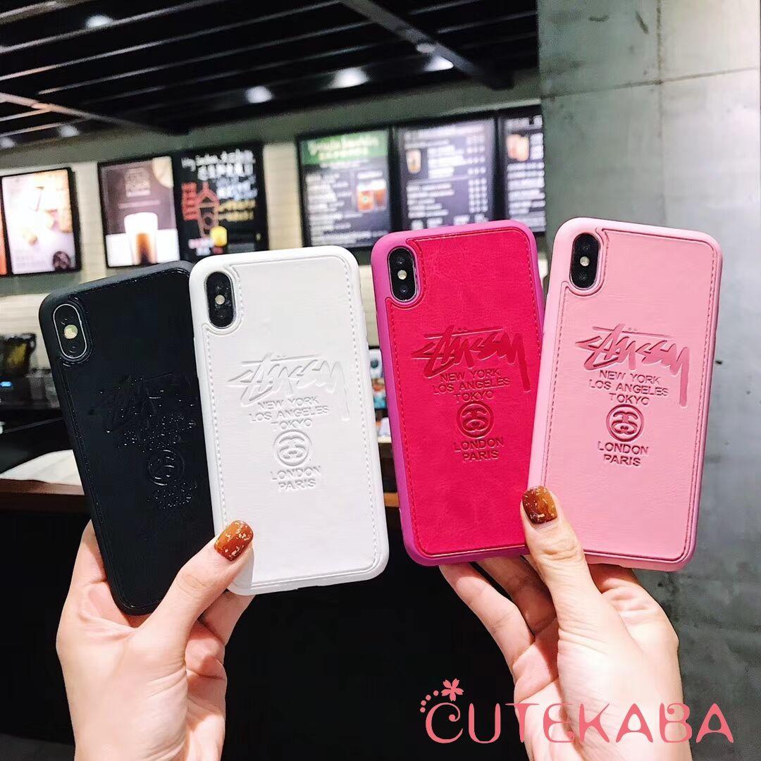 b038c5e5c3 ステューシー ピンク iPhoneXs Maxレザーケース ペアルック Stussy シンプル アイホンXs/Xr ケース 可愛い ス