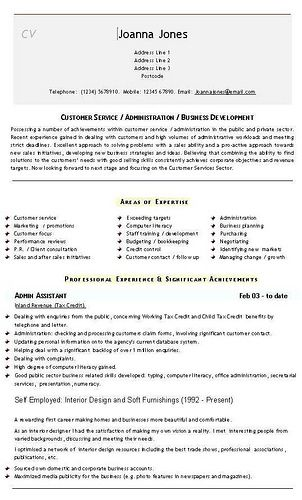 Admin Cv Templates Cv Template Templates Admin Assistant
