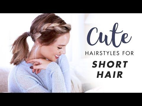 14 3 Easy Hairstyles For Short Medium Length Hair Youtube