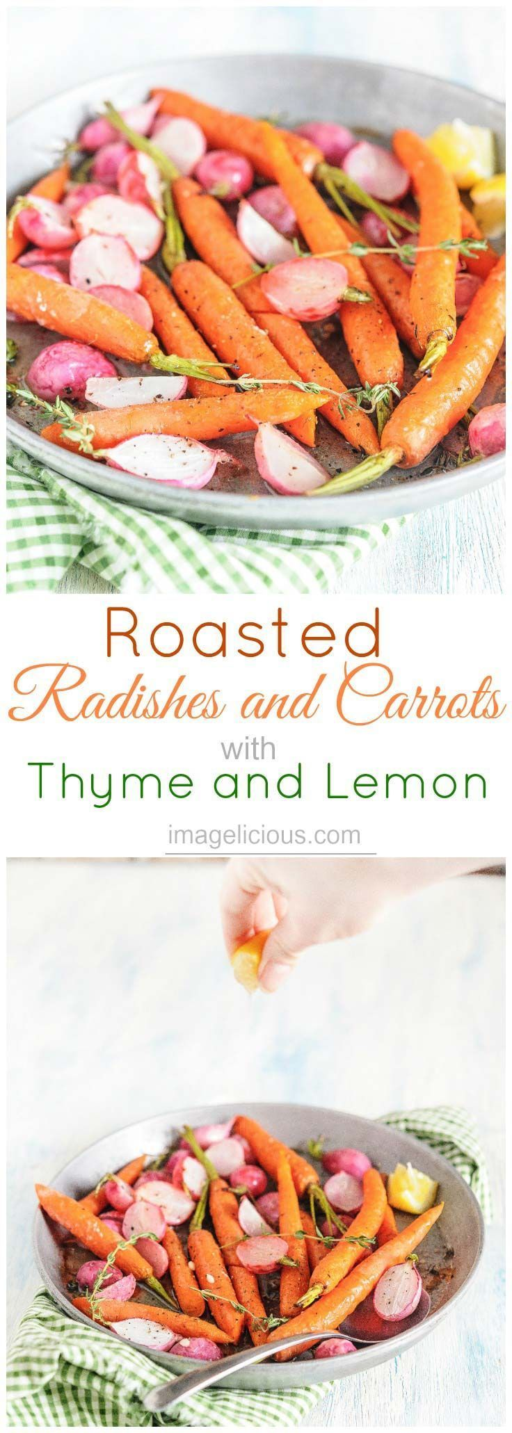 Roasted Radishes and Carrots with Thyme and Lemon Recipe