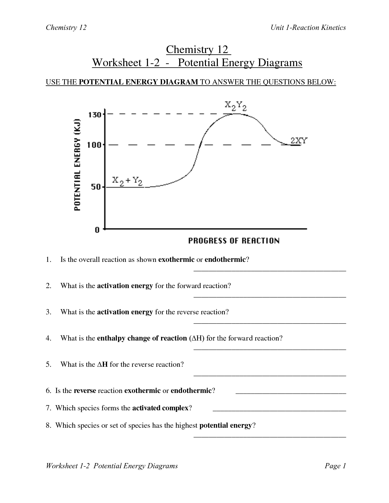 Endothermic And Exothermic Reactions Exothermic Reaction Reactions Potential Energy