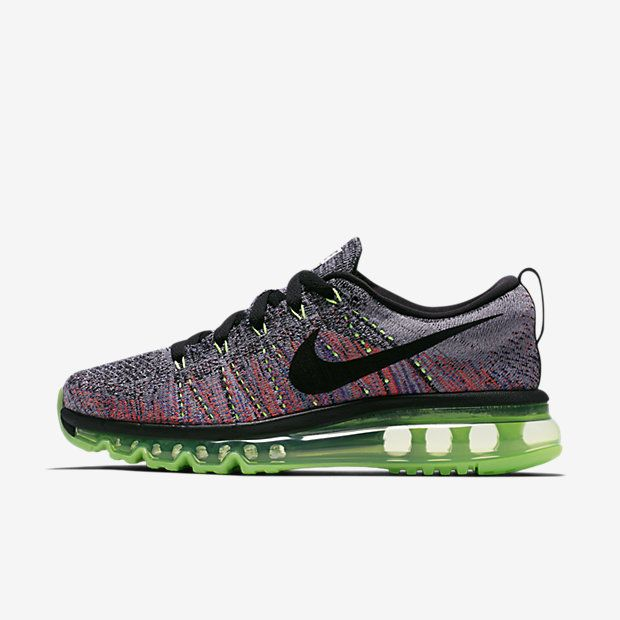 Buy authentic Nike Flyknit Air Max WhiteGhost GreenBright MangoBlack  Womens Shoes  only Fast shipping on all latest Nike products