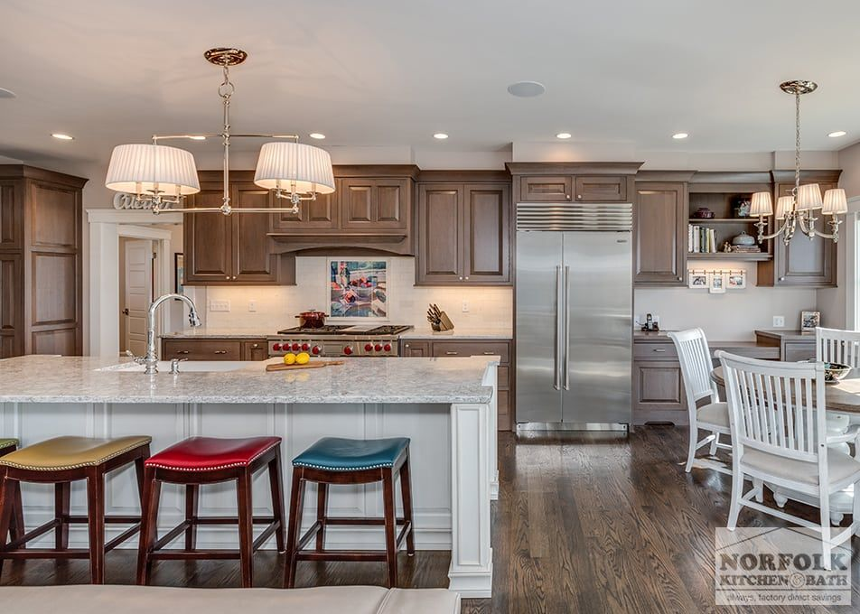 Sophisticated Two Tone Kitchen In Scituate Two Tone Kitchen