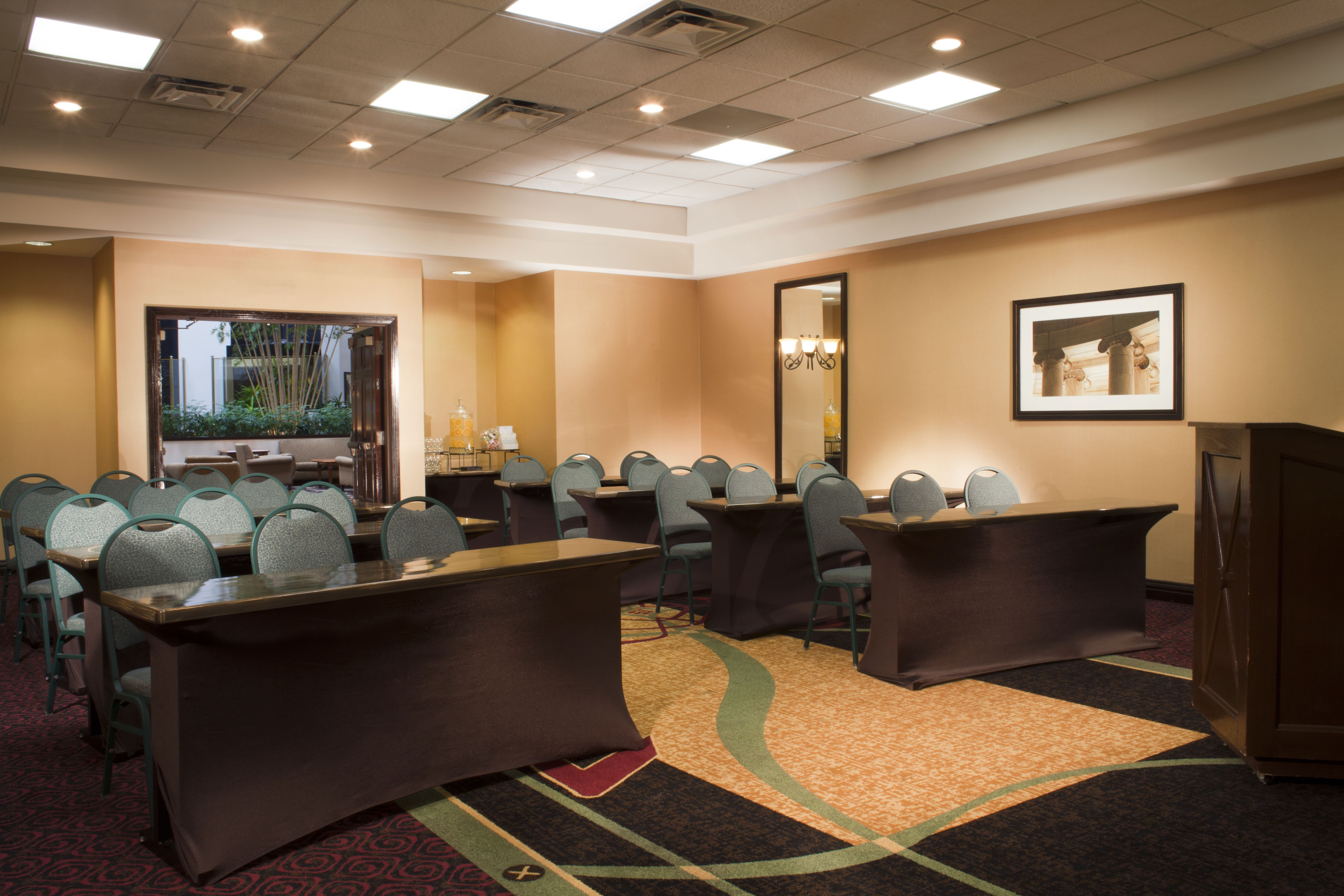 One of our meeting room.  To plan your next event go to:  http://embassysuites3.hilton.com/en/hotels/virginia/embassy-suites-dulles-airport-WASDAES/event/index.html