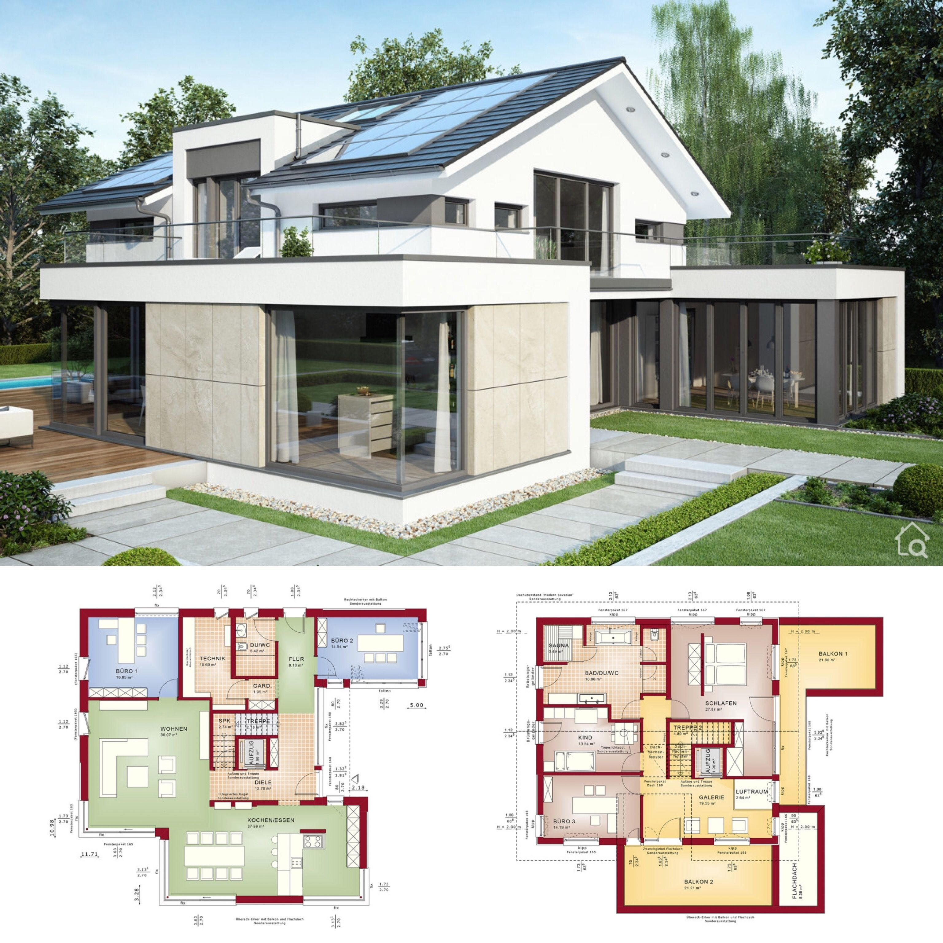 Modernes Design Haus mit Satteldach Architektur & 6 Zimmer